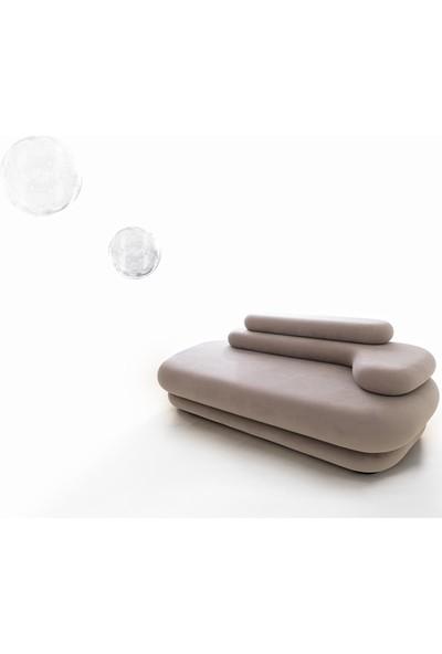 Kardelen Mobilya Bubble Koltuk Takımı Modern Lüks Rahat Oturma Odası Salon Takımı Gri - 3+2+1