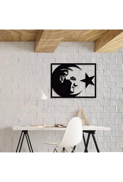 Dekkor Art Atatürk & Bayrak Metal Duvar Tablosu