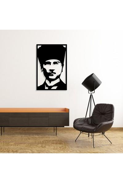 Dekkor Art Kalpaklı Atatürk Metal Duvar Tablosu