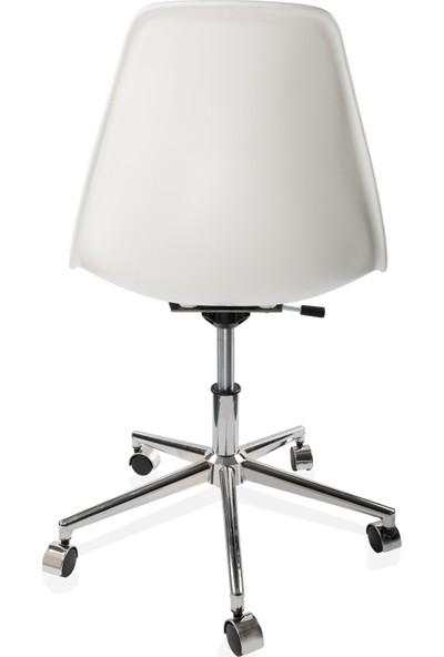 Dorcia Home Ofis Sandalyesi Çalışma Koltuğu Ofis Koltuğu Beyaz
