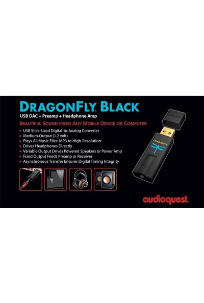 Audioquest Dragonfly Black USB Dac + Preamp + Headphone Amp