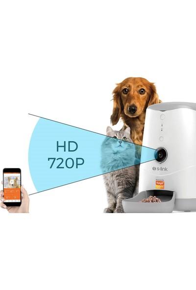 S-Link Swapp Sl-20 720P HD Kameralı Akıllı Evcil Hayvan Besleyici Wi-fi Tuya Destekli