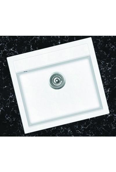 Viviano Granit Evye 51 x 56 cm Beyaz