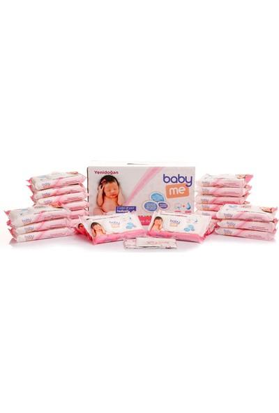 Baby me Yenidoğan Islak Pamuk Mendil Kız 24x40 adet