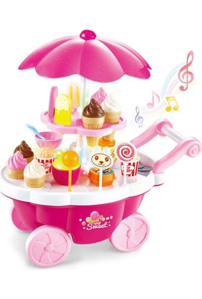Mega Işıklı ve Sesli Pembe Dondurma Arabası