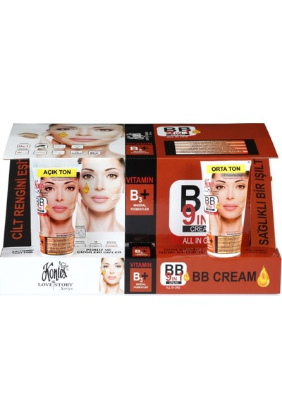 Kontes Açık Ton Bb 9 In 1 Cream