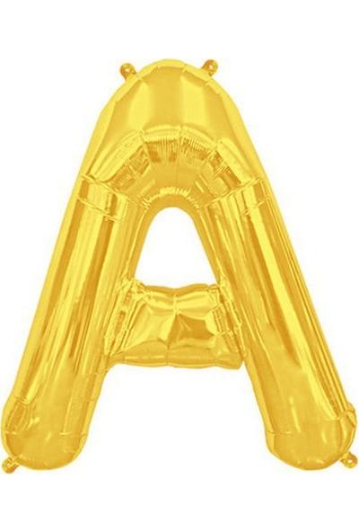 Bursapazarı 40'' 100 cm Folyo Harf Balon Gold A