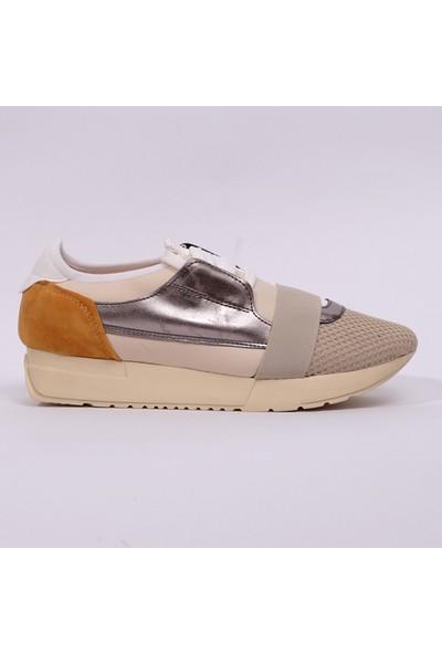 Hotanto Rona Krem Vegan Kadın Günlük Sneakers