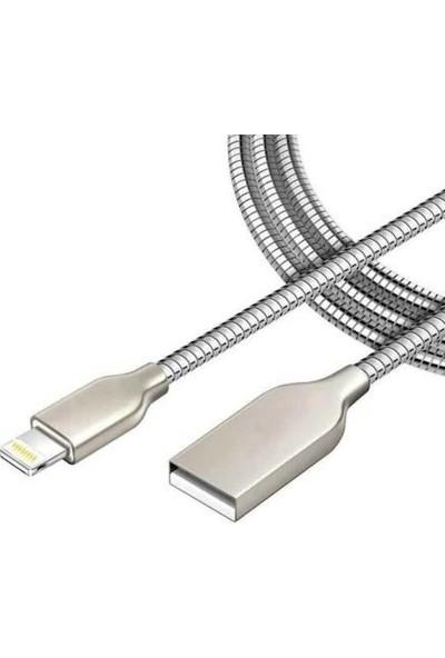 Syronix iPhone Uyumlu Metal Hızlı Araç Şarj Cihazı Metal Kablo Çift Giriş USB 3.1