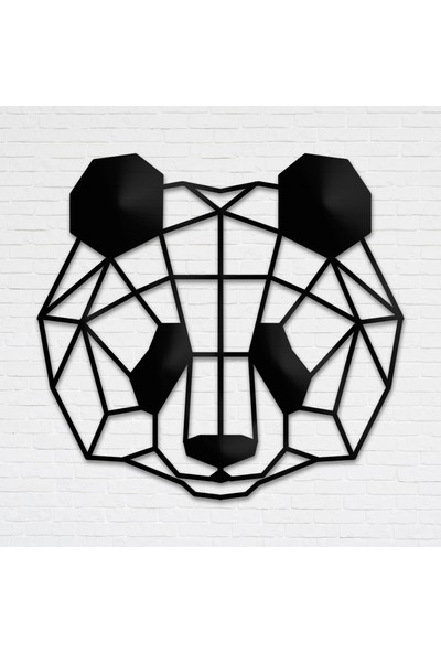 Tolary Geometrik Panda Metal Tablo