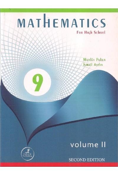 Mathematics 9 For High School Volume - Mevlüt Peken - Ismail Aydın