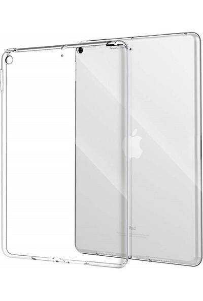 """Engo Apple iPad 7. Nesil 10.2"""" İnce Silikon Arka Kapak Kılıf Şeffaf"""