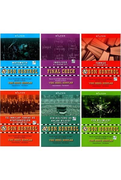 Bilfen Yayınları 8. Sınıf Son Kontrol 8'li Deneme Seti 6 Kitap