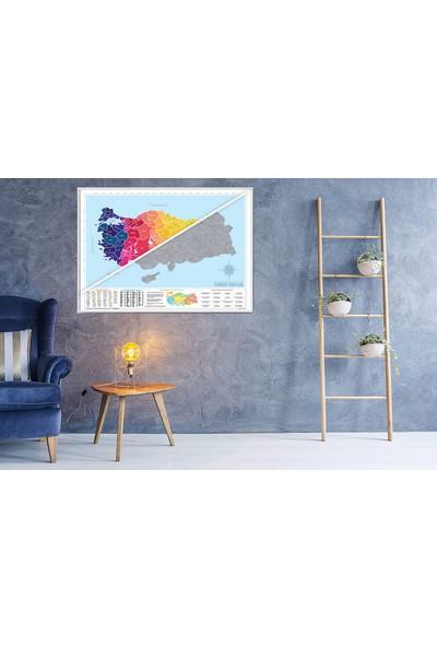 Atölye Depo Türkiye Haritası Kazınabilir Scratch Map Türkiye Il Plakalı Alan Kodlu Büyük Boy 50 x 70 Gez Kazı
