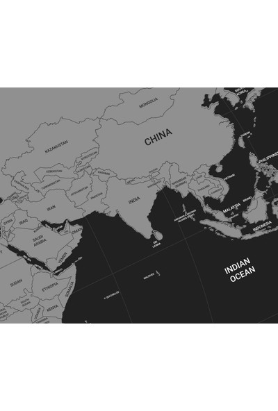Atölye Depo Black Edıtıon 2020 - Scratch Map Kazıma World Dünya Haritası Hediye Tüp Rulo Kutulu