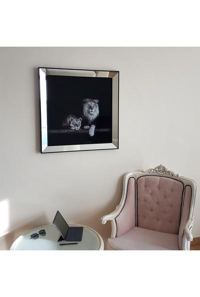 Neostill Ayna Çerçeveli Tablo Temperli Cama Uv Baskı T726