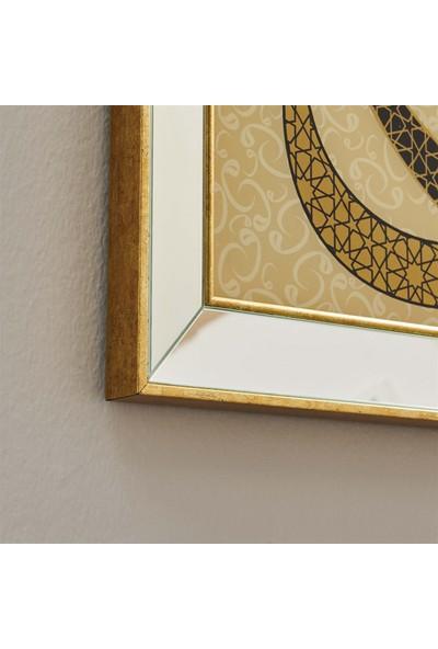Neostill Ayna Çerçeveli Tablo Temperli Cama Uv Baskı T729