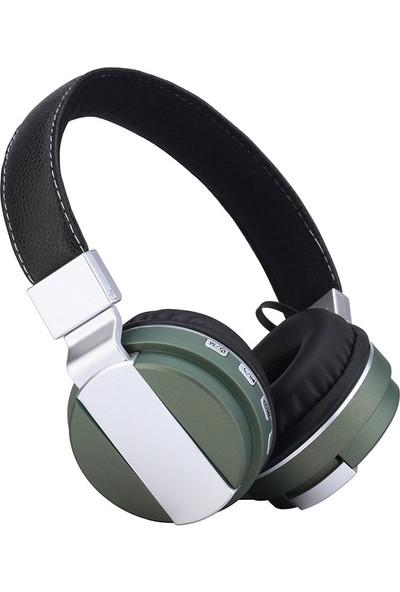 Music Store BT-008 Bluetooth Kulaklık - Yeşil