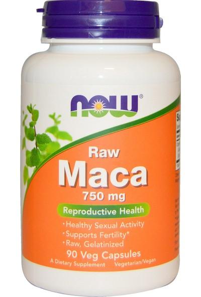 Now Raw Maca 750 Mg 90 Veg Cspsules