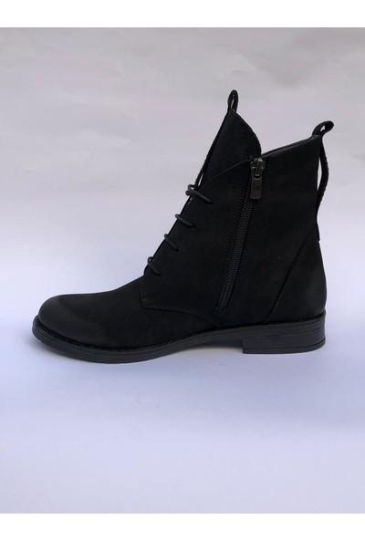 Marine Shoes Kadın Klasik Siyah Bot 019-04