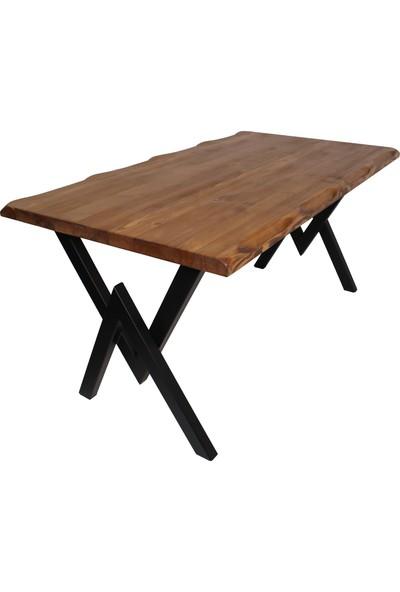 NtConcept Masif Ağaç Açık Ceviz Yemek Masası