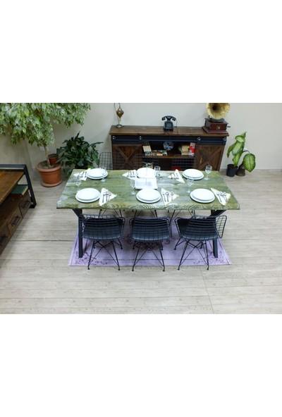 NtConcept Masif Kütük Yeşil Yemek Masası - MYM0064