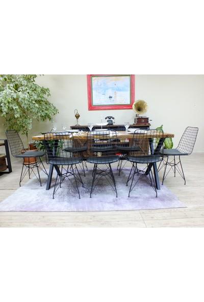 NtConcept Masif Ağaç Yemek Masası Düz Kenar - MYM00755