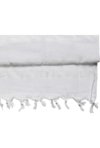 Bursa Hatırası Saraylı Peştemal Pamuk Beyaz 80 x 180 cm
