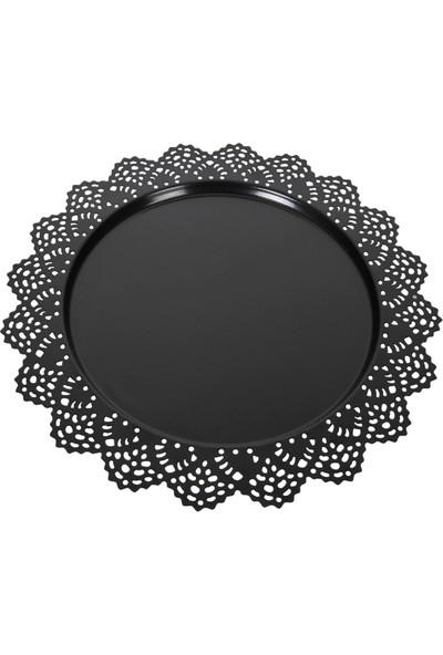 Venon Home Metal Tepsi Desenli Siyah