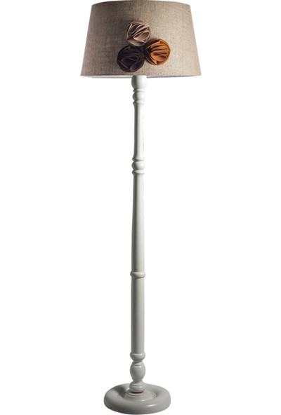 Ağaç Ustası Torinio Torna Bacak Tripod Lambader Abajur Avize Aydınlatma Ahşap Beyaz Ağaç Country Dekor Lamba Aplik Masif Doğal Jüt Keten