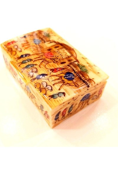 Erbişem Dekoratif Kutu Deve Kemiğile (6.5x4x2.4 cm)