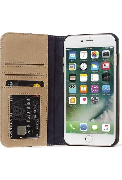 Decoded Apple iPhone 8 Deri Kılıf - Bej