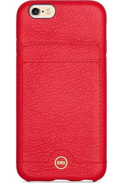 Sena Apple iPhone 6 / 7 Deri Kapak Kılıf - Kırmızı