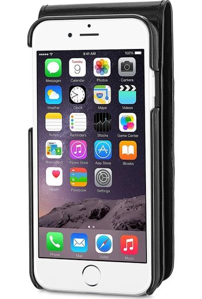 Sena Apple iPhone 8 Deri Kapaklı Cüzdan Kılıf - Siyah
