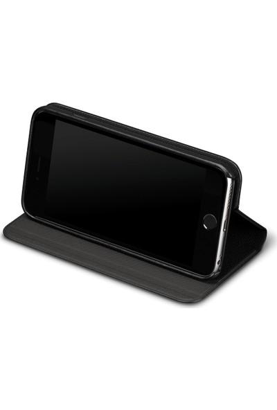 Sena Vettra Apple iPhone 6 / 7 Plus Deri Stand Kılıf - Siyah