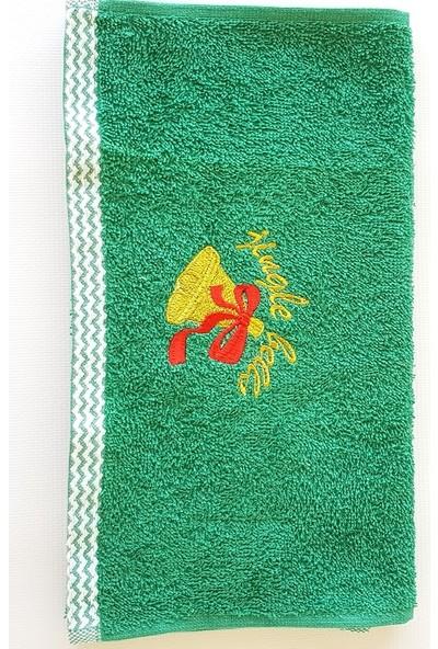 Gaintart Pamuk Yılbaşı Teması Nakışlı El Havlusu 30 x 50 cm