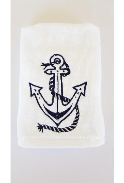 Gaintart Marin Serisi Çıpa Nakışlı El Havlusu 30 x 50 cm