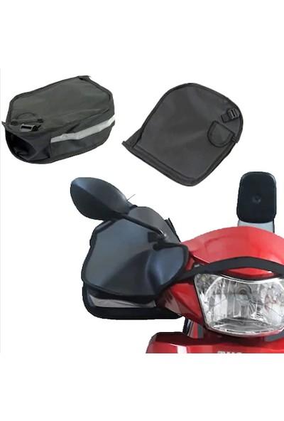 Ksburda Motosiklet El Rüzgar Yağmur Koruyucu Reflektörlü Elcik