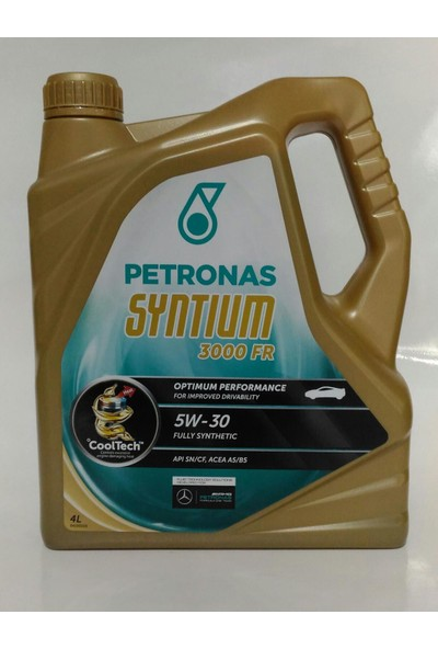 Petronas Syntium 5W-30 3000 Fr 4 Litre Motor Yağı - Ford ve Renault Onaylı/mercedes Tavsiyeli