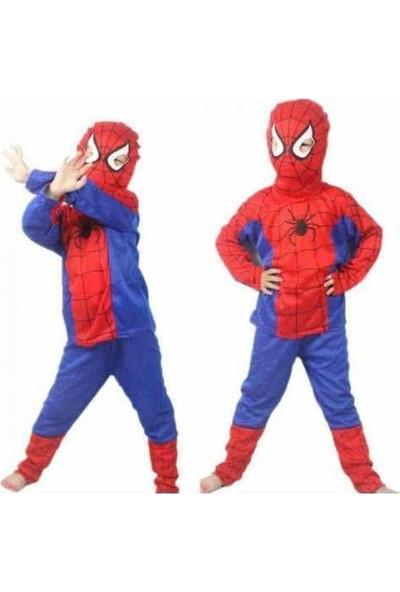 Evistro Spiderman Örümcek Adam Çocuk Kostümü 7-9 Yaş