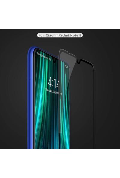 Case 4U Xiaomi Redmi Note 8 5D Kavisli Temperli Cam Ekran Koruyucu Film Siyah