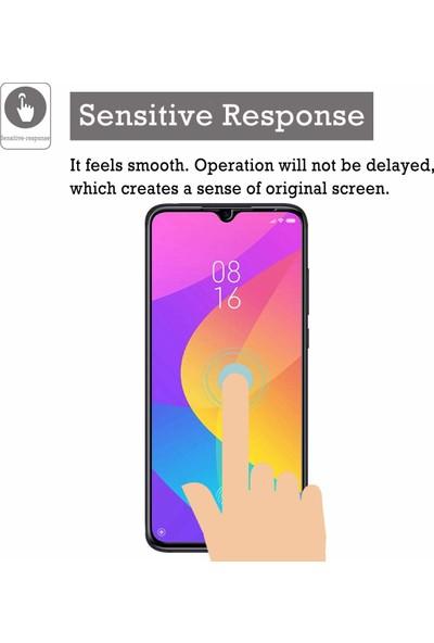 Case 4U Xiaomi Mi 9 Lite 5D Kavisli Temperli Cam Ekran Koruyucu Film Siyah