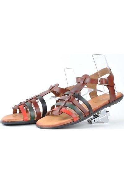 Hotanto Hera Renkli Vegan Kadın Sandalet