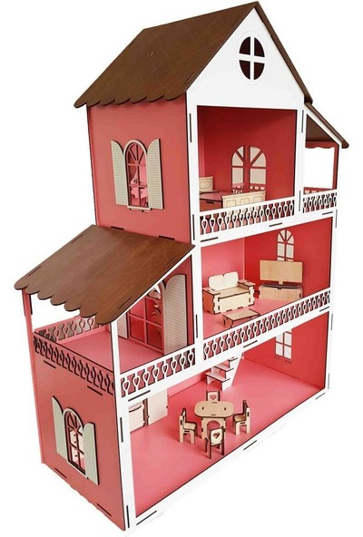 Woody Life Ahşap Oyuncak Ev 80 cm
