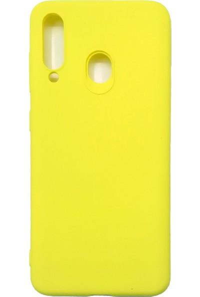Ercan İletişim Samsung Galaxy M40/A60 Silikon Kılıf - Sarı