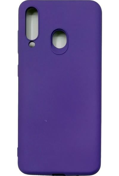 Samsung Galaxy M40/A60 Silikon Kılıf - Mor