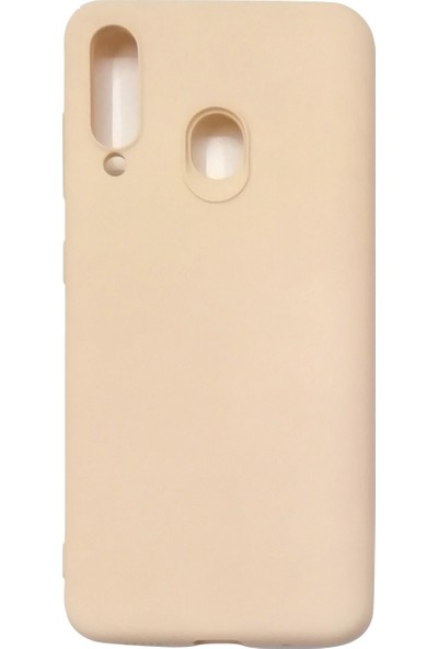 Samsung Galaxy M40/A60 Silikon Kılıf - Krem
