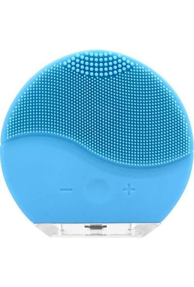 Forever Şarj Edilebilir Silikon Yüz Temizleme Cihazı ve Masaj Aleti - Mavi