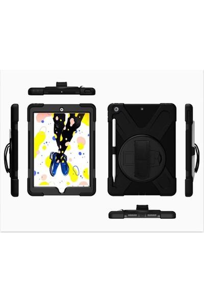 Fujimax ipad New 9.7 2017&2018 5.ve 6. Nesil Zırh Özellikli Defender Tablet Kılıf Kendinden Ekran Koruyuculu Siyah