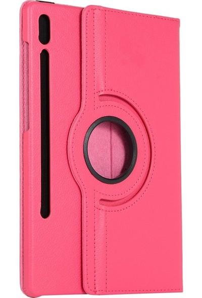 Fujimax Samsung Galaxy Tab S6 T860/T865/T867 360 Derece Döner Tablet Kılıf Kırmızı